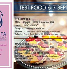 Puspita Sawargi Test Food 6-7 September 2014 by PUSPITA SAWARGI (wedding and catering service)