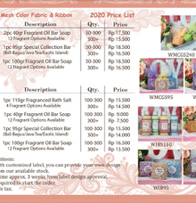 Price Catalog and Terms & Condition by Bali Soap