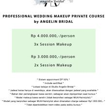 Course Packages by AngeLin Bridal