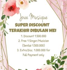 PROMO MEI - SUPER DISCOUNT TERAKHIR TAHUN INI by Jova Musique