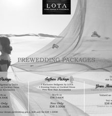 Book Your Prewedding Gowns NOW and GET SPECIAL PRICE by LOTA by Laurencia Lolita