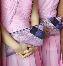 Purses with Bow  for Bridesmaids by Bride Of Marc