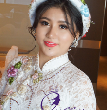 Pretty Vietnamese Bride by Queen Makeup Artist