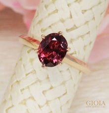 Spinel Engagement Ring by GIOIA FINE JEWELLERY