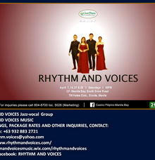 RHYTHM AND VOICES VOCAL GROUP weekly gig at CASINO FILIPINO MANILA BAY by RHYTHM AND VOICES MUSIC
