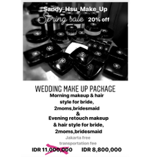 Spring sale Wedding make up package price list  by sandy_hsu_make_up