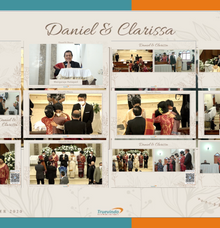 Daniel & Clarissa Virtual Online Wedding Live Streaming Holy Matrimony by Truevindo