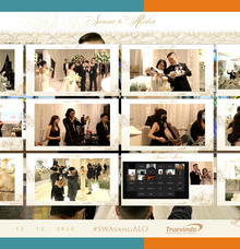 Swaine & Alodia Virtual Online Wedding Live Streaming Reception by Truevindo