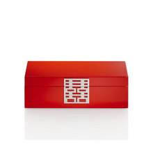 Double Happiness Jewellery Box in Lacquer Wood by Shanghai Tang