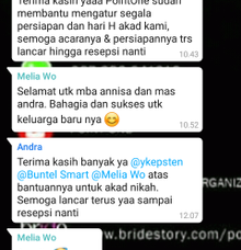 Testimoni Andra & Anissa by Point One Wedding Organizer