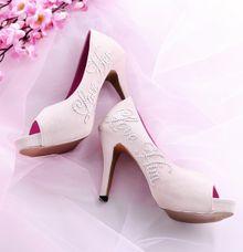Sepatu Peeptoe Perline Krem by SLIGHTshop.com