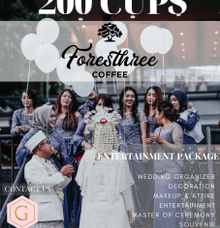 PROMO FREE STALL 200 Cups Foresthree Coffee by Glowy wedding organizer