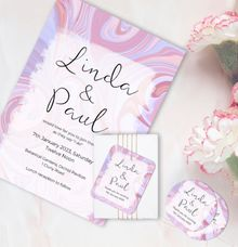 Swirl Wedding Invitation by Gift Elements