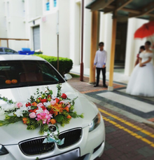 Wedding Car Decoration  by The Petals Shop