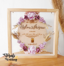 MAHAR LOGAM MULIA LILAC PLYWOOD FRAME NATURAL by Tobaliwedding