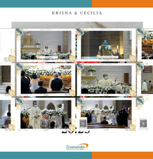 Krisna & Cecilia Virtual Online Wedding Live Streaming Holy Matrimony by Truevindo