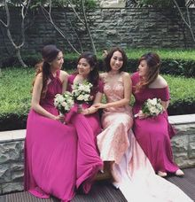 Bridesmaid of David and Sisca Wedding by The White Gallery
