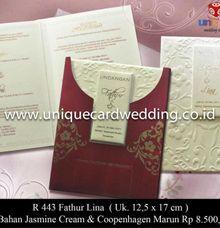 undangan hard cover by unique card wedding invitation