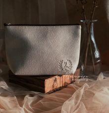 Trapezium Pouch in Silver by Memoire Souvenir