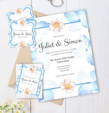 Periwinkle Blue Wedding Invitation by Gift Elements