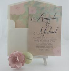 Wedding invitation by Playing With Paper