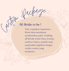 YUK BUAT PACKAGE by Sisi Wedding Consultant