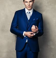 A BESPOKE ROYAL BLUE WEDDING SUIT by The Bespoke Club