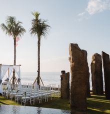 beachfront wedding venue at the stonehenge garden by the royal purnama