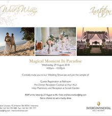 Wedding Gathering X Wedding Showcase Intercontinental Bali Resort by InterContinental Bali Resort