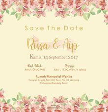 Risa and Aip E invitation by ideberideproject