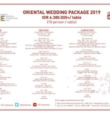 Oriental Wedding Package by Indonesia Convention Exhibition (ICE)
