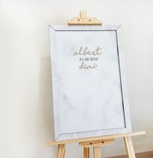 Wedding Sign with Frame by The White Dove