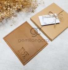card wallet upgrade craftbox tali serut for rizky & rohmansyah by Gemilang Craft