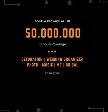 SOLALA WEDDING PACKAGE ALL IN by Solala Orchestra Entertainment