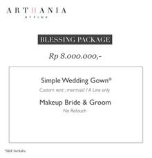 BLESSING WEDDING PACKAGE by Arthaniaxpink