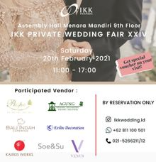 IKK Private Wedding Fair di Valentine Day, dengan Protokol New Normal Wedding! 20th Feb 2021 by  Menara Mandiri by IKK Wedding (ex. Plaza Bapindo)